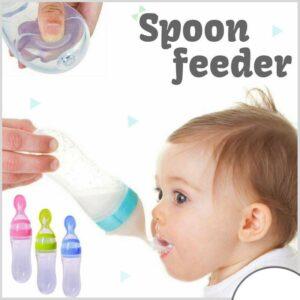 Baby Spoon Feeder Milk Bottle Silicone